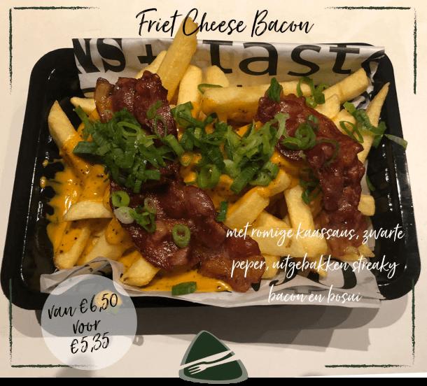 Actie v/d Maand Friet Friet Cheese Bacon bij Eetsalon Marktzicht in Beusichem