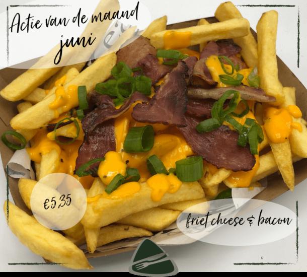Maandactie Frietje Cheese & Bacon bij Eetsalon Marktzicht in Beusichem