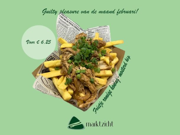 Maandactie februari 2020: Frietje romige mosterd kip bij eetsalon marktzicht beusichem