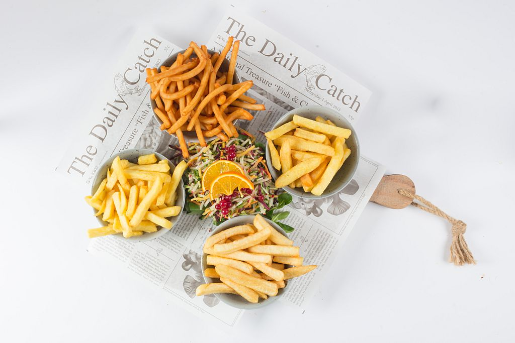 4 soorten friet bij Cafetaria Eetsalon Marktzicht in Beusichem