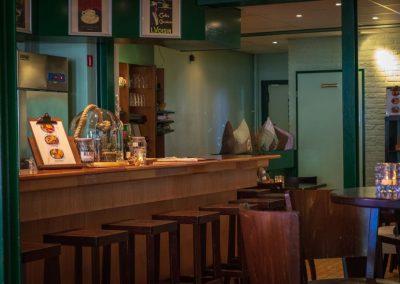 Bar van Eetsalon Marktzicht in Beusichem, gemeente Buren