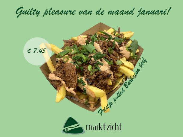 Januari maandactie 2020 bij Eetsalon Marktzicht in Beusichem: Friteje Pulled Barbacoa Beef voor slechts 7,45